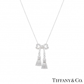 Tiffany & Co. Diamond Bow Necklace